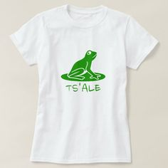 Text in Tsetsaut: tsalε and a green frog T-Shirt #extinct #language #cool #unique #design #TShirt Alaska, Frog T Shirts, Women's Shirts, Green Frog, Simple Shirts, Girls Wardrobe, Wardrobe Staples, Mens Tops, Fashion Design