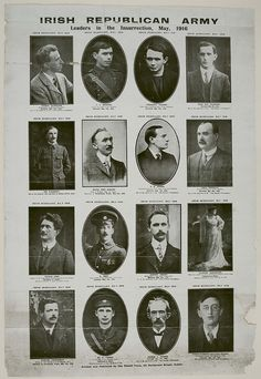 1916 Irish Republican Army, Leaders of the Insurrection, Powell Press Poster Susan Sullivan, Irish Rebellion 1916, Irish Republican Army, Republican Leaders, Ireland 1916, Irish Independence, Easter Rising, Irish Celtic, Gaelic Irish