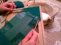 Weaving on a square loom