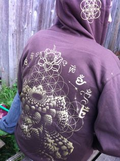 Holiday Sale Sacred Geometry Hoodie by OurTimelessCreation, $65.00