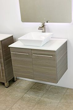Special Offers - WindBay 30 wall mount floating bathroom vanity sink set. Vanities sink Grey - In stock & Free Shipping. You can save more money! Check It (May 04 2016 at 07:24PM) >> http://bathstoreaccessories.net/windbay-30-wall-mount-floating-bathroom-vanity-sink-set-vanities-sink-grey/