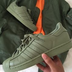 Adidas Superstar X Pharrell Olive Green
