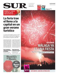 Las portadas de Diario SUR | Sur.es | 16/08/2014