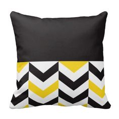 Cojín Almohada Yellow & Black Duo