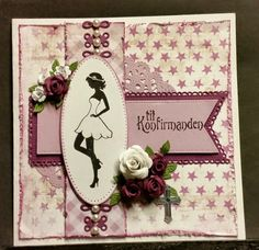 kortblogger: Kort. Homemade Greeting Cards, Homemade Cards, Confirmation Cards, Embossed Cards, Kids Cards, Cute Cards, Distress Ink, Cardmaking, Diy And Crafts