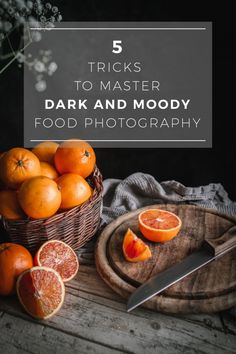 5 Tricks To Master Dark And Moody Food Photography. These five easy tips and tricks will help you get better at dark and moody food photography and create jaw dropping still life moody shots. Food Photography Lighting, Photography Aesthetic, Photography Camera, Food Photography Tricks, Photography Gallery, Photography Magazine, Photography Backdrops, Photography Tutorials, Photography Lightbox