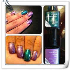 """Love these #LiquidMetal colors""  #SensatioNail #RockMyEmerald #DontMetalMe Via http://instagram.com/stephdollstatus"