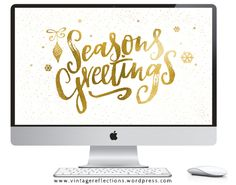 I have another freebie for you guys today! A golden christmas desktop wallpaper perfect for the holiday season.  Download Golden Seasons Greetings I also have a couple of new Christmas wine labels ...