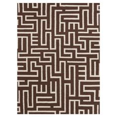 Handmade wool and cotton flatweave rug with a maze motif.  Product: RugConstruction Material: Wool and cotton