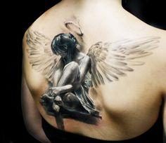 Realistic Angel Tattoo by Iwan Yug | Tattoo No. 13694