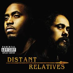 """Distant Relatives: Nas and Damian Marley. Please do not ask me how I heard half the album before release. In Jamaica. From Missouri. :) Still loving the music. My favorite song is """"Africa Must Wake Up"""", but the whole album is great. Damian Marley, Stephen Marley, Bob Marley, Reggae Music, My Music, Itunes Music, Top 10 Albums, Dennis Brown, Joss Stone"""