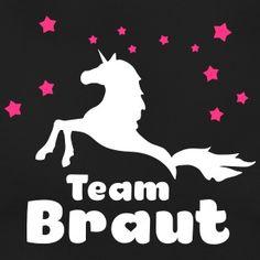 JGA shirts Team Braut Polterabend Einhorn