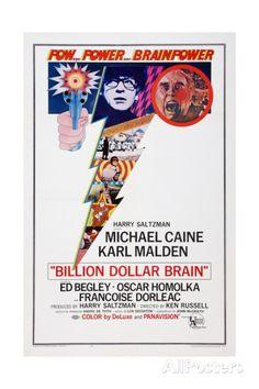 Billion Dollar Brain, Top from Left: Michael Caine, Ed Begley, 1967 Posters AllPosters.fi-sivustossa