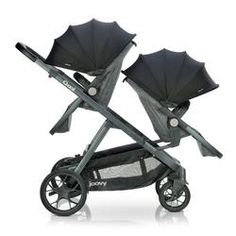 Joovy - poussette qool - gris melange Double Strollers, Baby Strollers, Kids Up, Baby Kids, Baby Transport, Pram Stroller, Bassinet, How To Have Twins, Rubber Tires