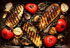 Backyard BBQ season is in full swing. Grab a craft beer (and the charcoal) for these quintessential, fire-kissed favorites. It's time to craft beer and grill. Backyard BBQ: Craft Beer and Grill was last modified: August 2019 by Andy Sparhawk Churros, Baking With Beer, Roast Eggplant, Good Food, Yummy Food, Eggplant Recipes, Backyard Bbq, Pepperoni, Grilling Recipes