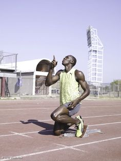 Usain Bolt. Dude is fast.