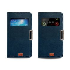 Cover Flip Window View Magnetic Lock portefeuille Galaxy Note 3, Galaxy S4