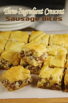 Three-Ingredient Crescent Sausage Bites