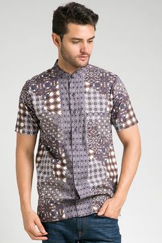 MEN LEBARAN COLLECTION BATIK SHIRT 060