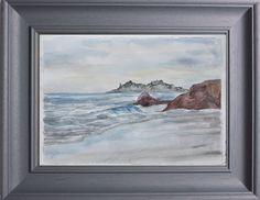 """Aquarell """"Coastline"""" 18 x 28 Künstlerin Gerdi Möller-Jansen"""