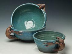 more crawfish bowls, great for gumbo or chowder! Louisiana Crawfish, Gumbo, Chowder, Serving Bowls, Pottery, Tableware, Art, Okra, Ceramica