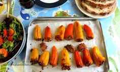 Calabrian stuffed bell peppers with anchovies and olives | mylittleitaliankitchen.com