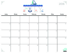 Download iMOM's Free July 2016 printable calendar. Climb aboard as we sail through summer.