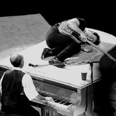 Bruce Springsteen on piano