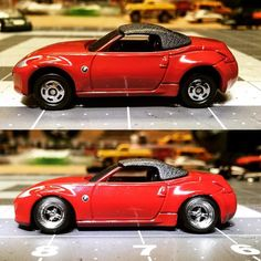 Well came across this fair lady today at the local hobby store on discount so I grabbed it and of course gave her the treatment. Decent amount of grinding on all four corners chassis shaved down custom axle housings JH wheels and again car rolls very smooth. Very happy with the results…