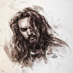 Dirty drawing to celebrate my damn birthday  Thanks everyone for your lovely birthday wishes!  #JasonMomoa #Drawing #Sketch #CharcoalMegaMix #DrinkAGuinnessForMe #ImFreakinOld #Argh