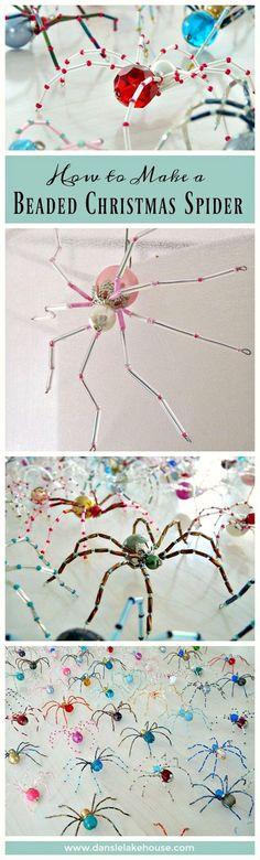 How to make a beaded christmas spider // Why EVERY Christmas Tree Needs a Spider Ornament - Love the History and Story with These DIY Ornemants // Wonderful DIY Handmade Gift Idea or Unique Gift Topper
