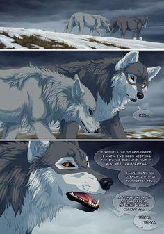 Off-White Page 24 by Jessi-Mei on DeviantArt Fantasy Wolf, Fantasy Art, Off White Comic, Wolf With Blue Eyes, Wolf Comics, Wolf Spirit Animal, Wolf Artwork, Furry Comic, Pokemon