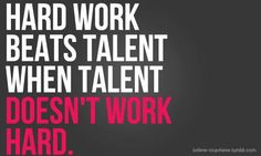 Hard work beats talent when talent doesn't work hard. - Entrepreneur Blog