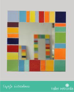 Espejo Mosaico Azulejos, $220 en http://ofeliafeliz.com.ar