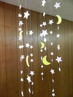 Stars and Moons Paper Garlands To the Moon by anyoccasionbanners