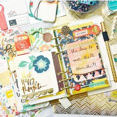 theplannersociety: Okay let's just be honest here.. If your are looking for declicious planner eye candy.. This girl right here is da Bomb!!! @sunny.leah planner posts seriously get me giddy!