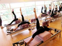 Throwbackthursday! An early shot of our instructors doing the spinal extension variation of the Tree on the #Pilates Shortbox. Beautiful! https://www.facebook.com/ThePilatesFlow www.thepilatesflow.com.sg