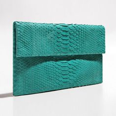 Aqua green python clutch by Verinosa More colors www.verinosa.ee