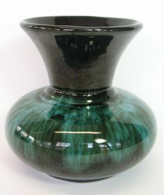 Green Pottery Art Pottery Vase Studio Mid Century by MicheleACaron, $32.00