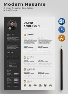 Buy Resume by on GraphicRiver. Clean and Modern Resume/cv template to help you land that great job. The flexible page designs are easy to use and cu. Portfolio Web, Portfolio Resume, Creative Cv Template, Resume Design Template, Cv Original Design, Icones Cv, Creation Cv, Cv Curriculum Vitae, Cv Words