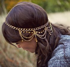 Waterfall headpiece / Moorea Seal on Etsy