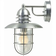 Lite Source Exterior Lighting Outdoor  Wall Lantern in Stainless Steel - LS-1468STS