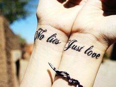 ~No Lies Just Love couples tat~
