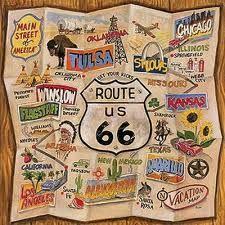 antique map route 66