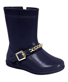Love this Navy Chain Boot by Pampili on #zulily! #zulilyfinds