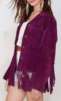 Vintage Purple Haze Suede Fringe Jacket...oh my lawdddd if only I could afford this