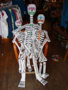 Day of the Dead Paper Mache Skeletons