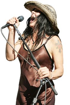 Concrete Blonde's Johnette Napolitano. MOST amazing voice I have ever ever heard. :-)