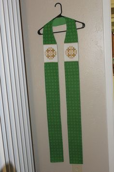 Jerusalem Cross, Bishop Mitre, Color Combinations, Etsy Store, Machine Embroidery, Sewing Crafts, Kelly Green, Bright, Business