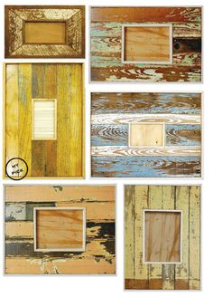 love the texture in these reclaimed wood frames